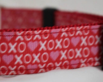 "XO Design Dog Collar - Side Release Buckle (1"" Width) - Martingale Option Available"