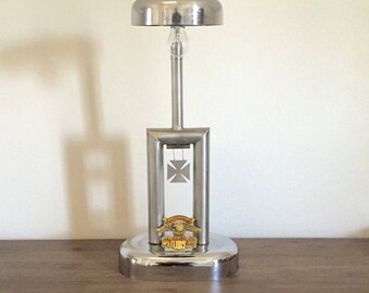 Vintage Lamp; Harley Davidson Lamp; Recycled Parts Harley Davidson Lamp; Motorcycle Lamp; Upcycled Lamp; Industrial Lighting