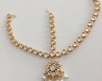 Kundan tika, kundan tikka, mathapati , Indian jewelry, Kundan jewelry