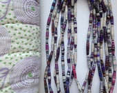 Purple PAPER BEAD Necklace/Bracelet / Haitian made recycled paper beads/ Paper bead jewelry/ Fair trade jewelry/ Purple bracelet/ Free ship!