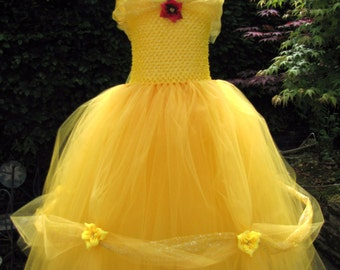 Beautiful Belle Tutu Dress. Handmade Especially for the Belle of the Ball!