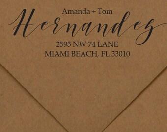 Address Stamp, Return Address Rubber Stamp, Address Self-Inking Stamp