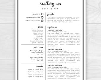 Construction Project Manager Resume Sample Word Modern Resume  Etsy Human Service Resume with Resume Computer Skills Example Resume Icons Resume Design Resume Template Word Resume Cover Letter  Resume Template Resume Workshops Word