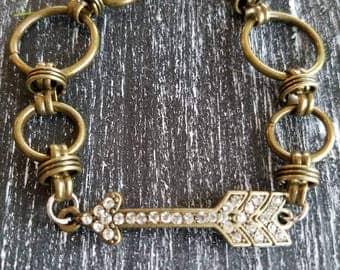 Antique Arrow Bangle Bracelet