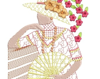 SOUTHERN BELLE shay machine embroidery download 3 diff sizes (3.2X 3.5    4X4     5X5)