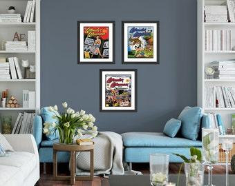 Wonder Woman Wall Art, Baby Girl Superhero Nursery Art, Wonder Woman Poster, Justice League, Superhero Decor