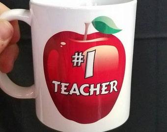 Number 1 teacher coffee mug