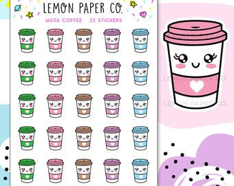 M006 Coffee // Kawaii Planner Stickers