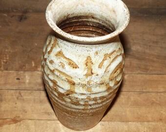 Pilling Pottery Vase Hand Thrown Earthtones - 869