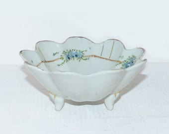 Nippon Hand Painted Footed Bowl - 1029