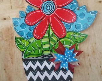 Spring Door Hanger, Spring Decorations, Spring Door Decor, Flower Door Hanger, Spring Wood Sign, Door Hanger, Door Decor, Happy Spring Sign