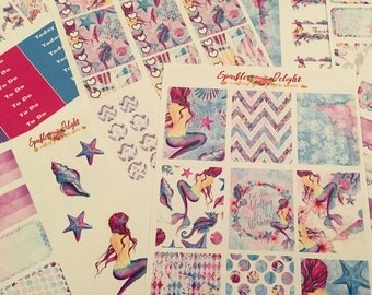 Enchanting Mermaid -  For Erin Condren Life Planner Happy Planner Plum Paper kikki k filofax planner stickers