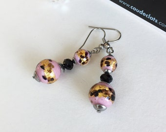 Earrings with real Murano beads
