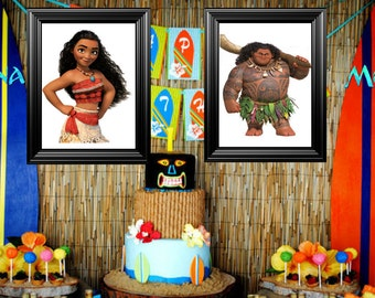 Moana Bedroom/Birthday party Picture Frames Decor ( 11x14 ) frames