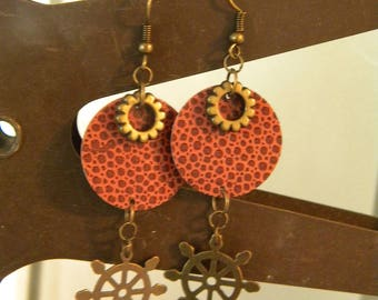 Circles and Gears, Punched Craft Paper and Gear Earrings