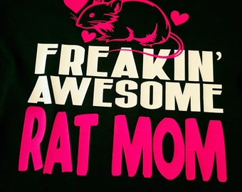 Freakin' Awesome Rat Mom or Dad Vinyl Shirt