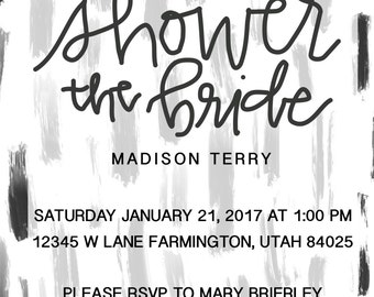 Editable Bridal shower invitation