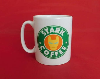 Tony Stark Iron Man Marvel Starbucks Inspired Coffee Mug 10oz