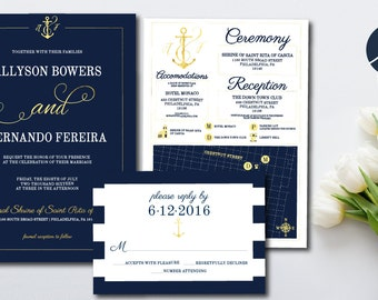Anchor invitation Etsy