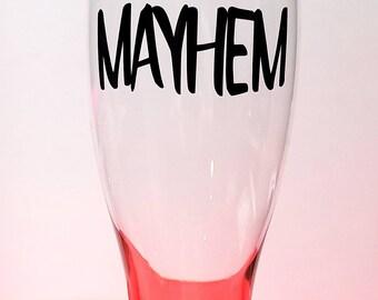 Mayhem pilsner BEER glass