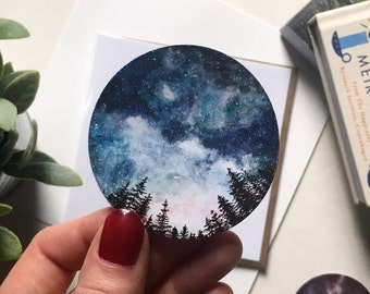 Watercolour Starry Sky Sticker