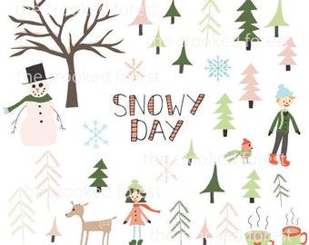 CLIP ART: Snowy Day
