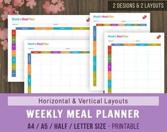 Meal Planner, Meal Planning Calendar, Week's Menu, Menu Planner, Weekly Meal Planner, Weekly Menu Calendar, Weekly Meal Calendar