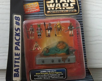 Star Wars Micro Machines Action Fleet Battle Packs #8 Desert Palace featuring Jabba the Hutt mib Galoob 1996