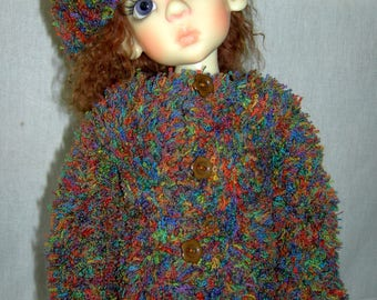 Hand knitted jacket for Kaye Wiggs MSD