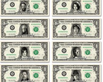 Walking Dead 8-set Real Dollar Bills Bill Cash Money Collectible TV Memorabilia