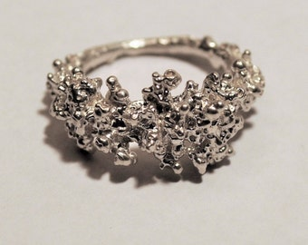 Statement Textured Ring - Alternative Engagement Ring - Granulation ring  - Unique Jewellery