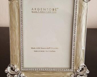 Argento SC Swarowski crystals picture frame