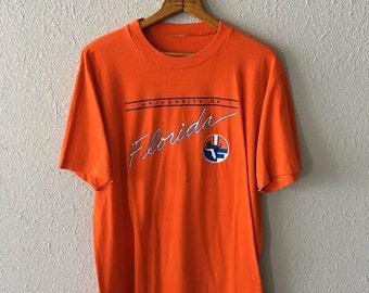 Vintage Florida Gators 1980's Gators UF Thread Bare University of Florida T Shirt