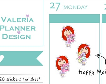 A0224 - MINI POPPY - Happy Mail stickers - Planner Stickers - Decorative stickers - Filofax, Happy planner - Kawaii Stickers