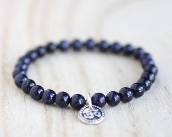 Arthritis Bracelet. BLUE GOLDSTONE Bracelet. Stacking Bracelet infused with Reiki Energy. Healing Crystal Bracelet. Inflammation. Balance.