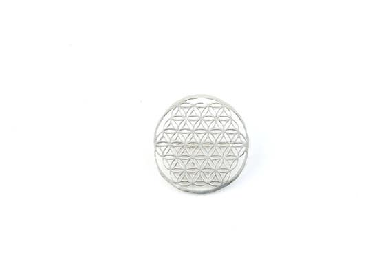 Flower of Life Pin, Hat Pin, Festival Wear, Festival Pins, Festival Jewelry, Sacred Geometry