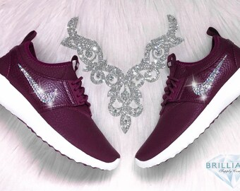 Swarovski Nike Shoes Bling Nike Juvenate Shoes Night Maroon Burgundy Customized with Swarovski® Rhinestone Crystals Authentic New In Box