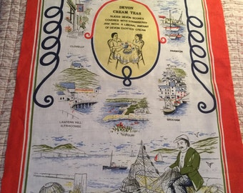 Vintage Tea towel - Devon