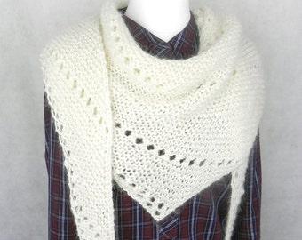 Shawl KNITTING CLOTH SCARF wool knitted handmade mohair