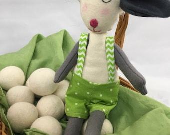 Boy lamb doll, natural kids toy, lamb plush, stuffed animal lamb,  lamb toy