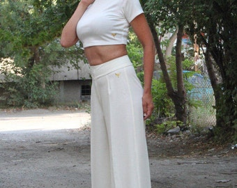NEW Collection SS/17,High-Wasted Trousers, Women's Wide Leg Pants, Black Pants,Women's Pants, Elegant Pants by Astraea-8010