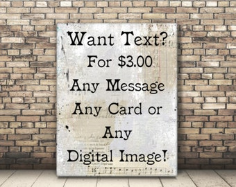 Personalized or Customized Text On Any of My Digital Images.
