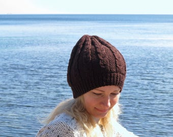 Ready to ship Oversize hat oversize beanie hat womens winter hat slouchy beanie women hat wool hat brown hat slouchy hat winter gift for her