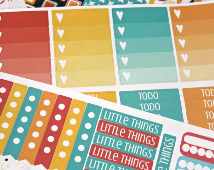 Planner Stickers - Weekly Planner stickers - Erin Condren Life Planner - Happy Planner - Day Designer- Mod Planner - 80s Retro Throwback