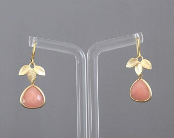 Jane Golden and pink earrings