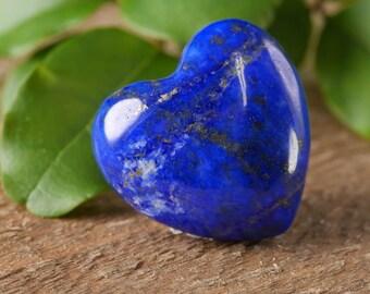 One Small LAPIS LAZULI Stone Heart - Shaped Stone, Healing Stone, Heart Rock Chakra Crystal, Heart Stone, Lapis Lazuli Pendant E0241