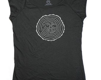 Ninus - Tree Rings, Hand-printed Bamboo Women's T-Shirt