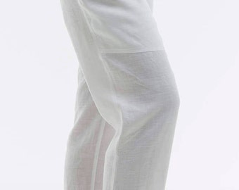 Linen, 100% linen pants, for her clothing for woman