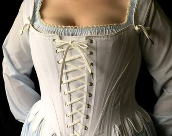 Marie Antoinette Plus Size Corset,Custom Sized,Curvy Tabbed Stays w/ Straps,Bridal,shaping underwear,brocade,coutil,free fitting mockup
