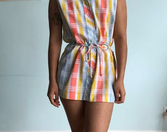 Vintage sz S pastel mini dress
